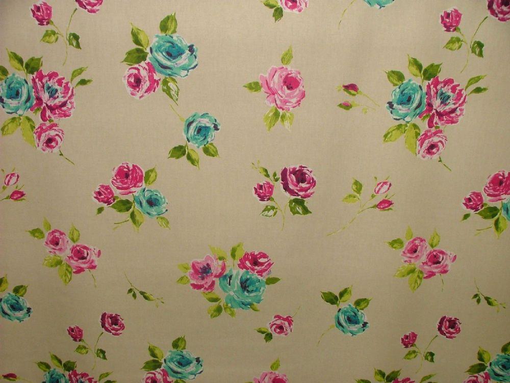 Prestigious Textiles Ella Magenta Floral Cotton Curtain